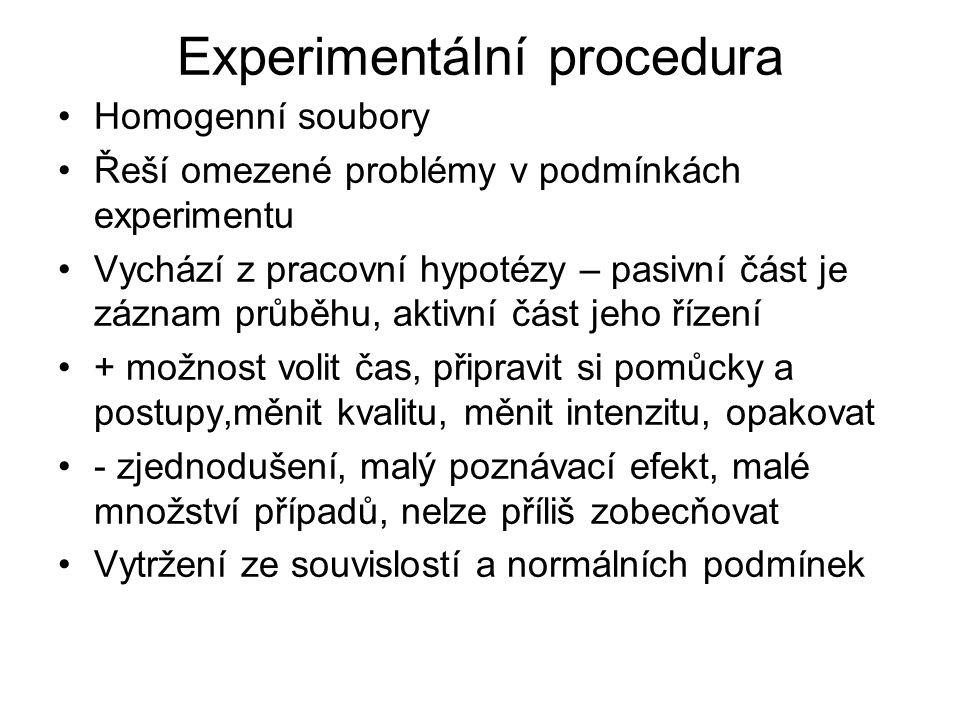 Experimentální procedura
