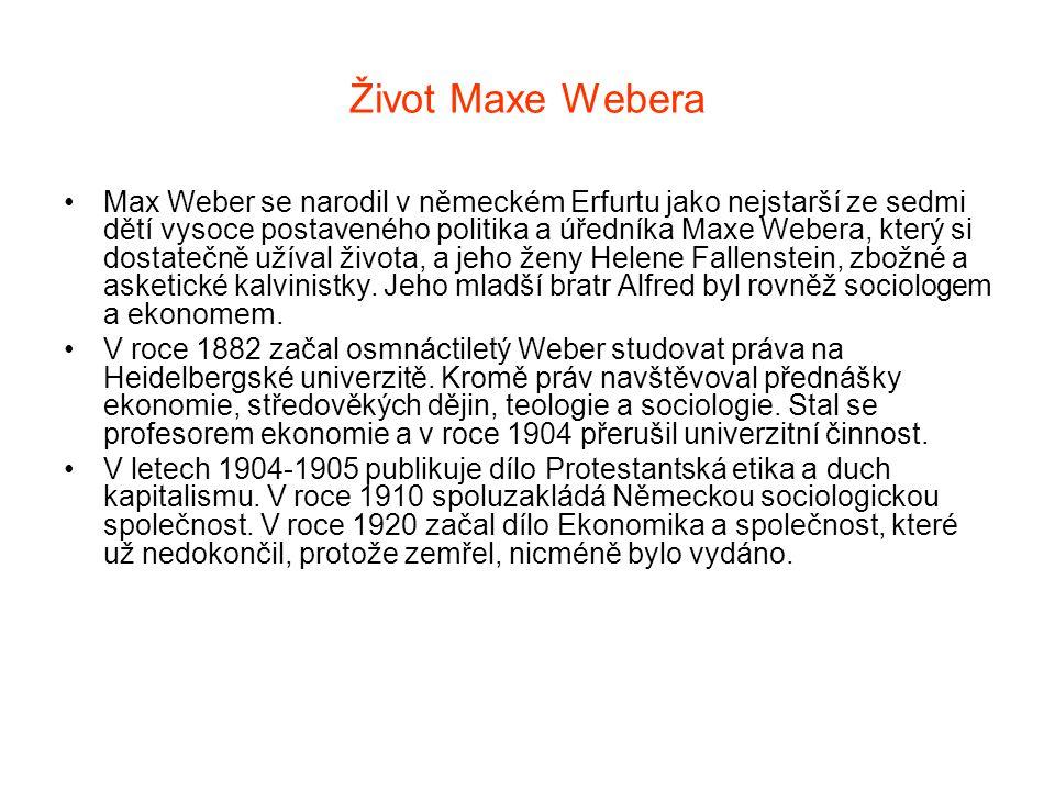 Život Maxe Webera