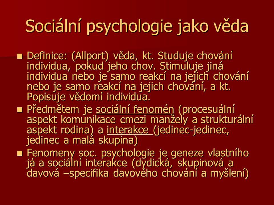Sociální psychologie jako věda