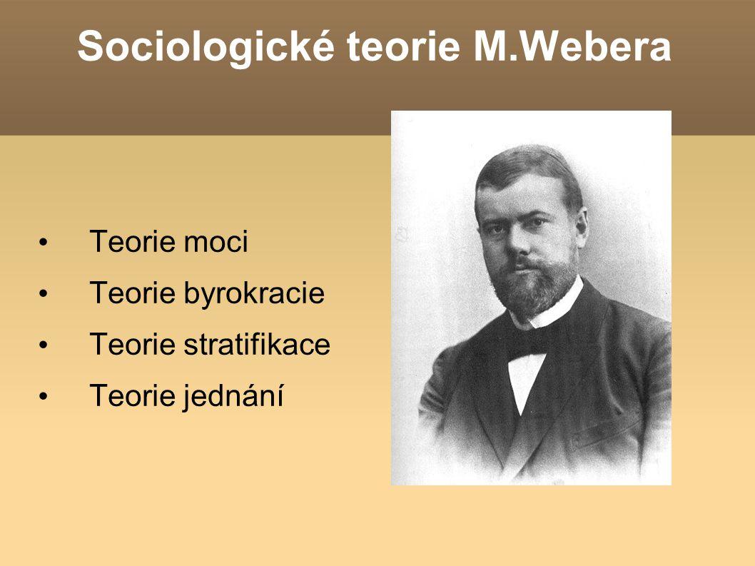 Sociologické teorie M.Webera
