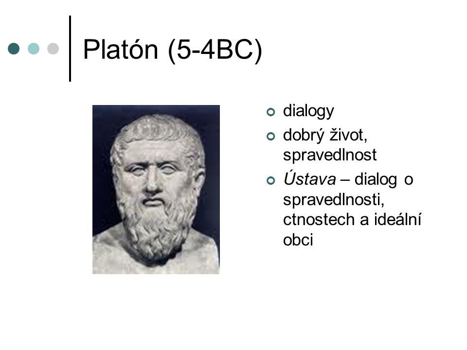 Platón (5-4BC) dialogy dobrý život, spravedlnost