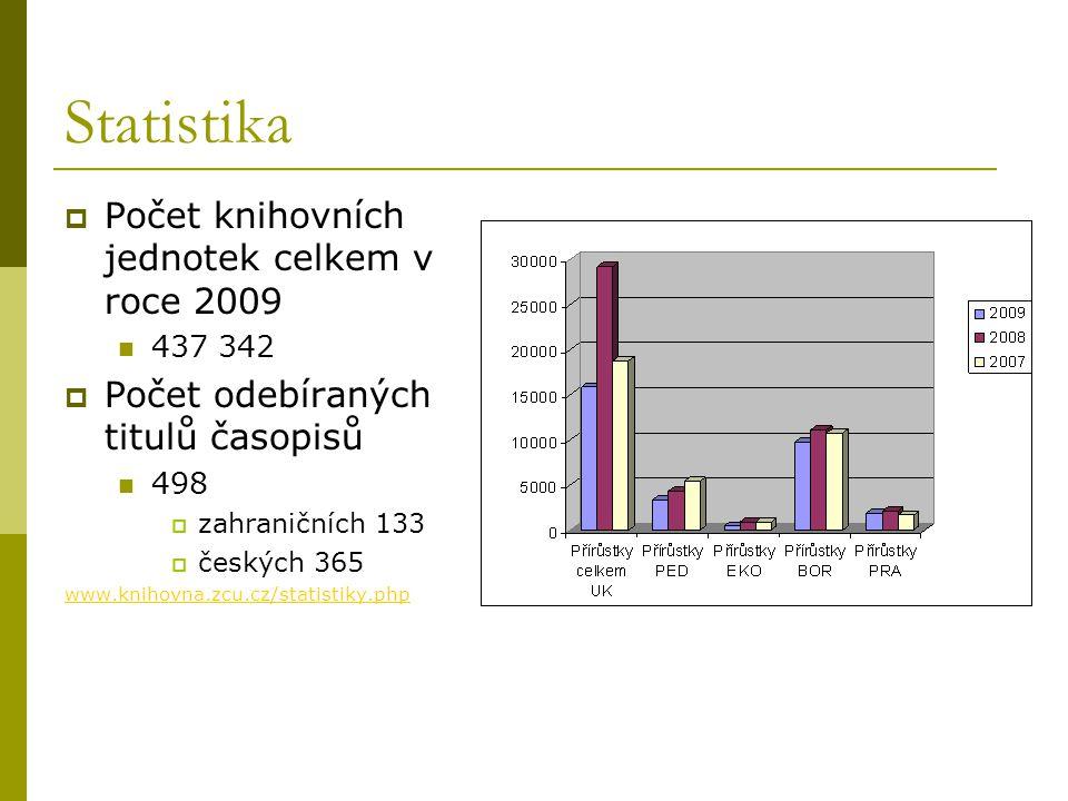 Statistika Počet knihovních jednotek celkem v roce 2009
