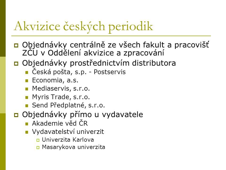 Akvizice českých periodik