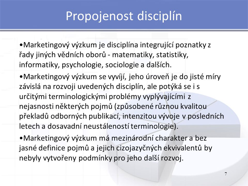 Propojenost disciplín