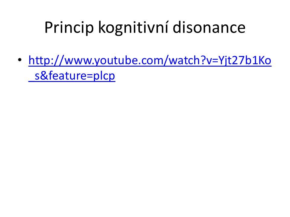 Princip kognitivní disonance