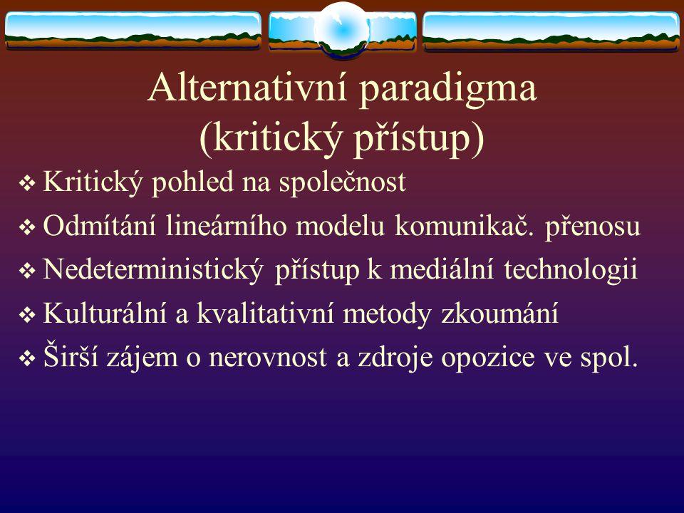 Alternativní paradigma (kritický přístup)
