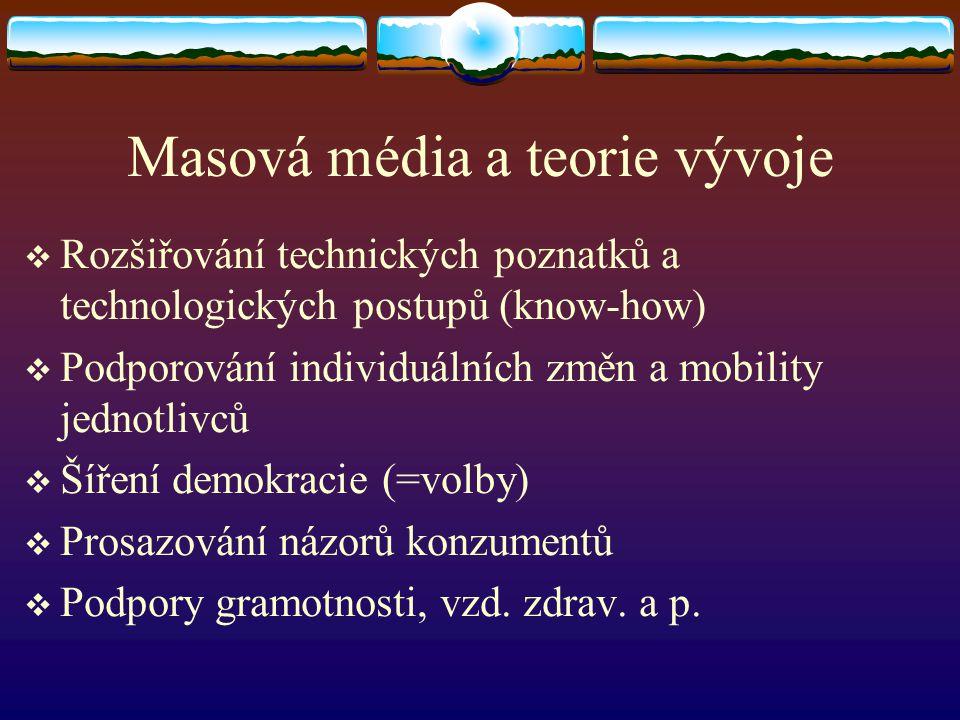 Masová média a teorie vývoje