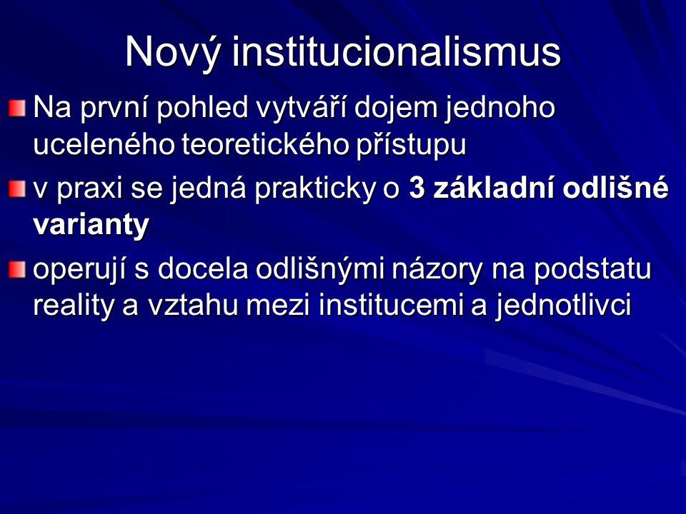 Nový institucionalismus
