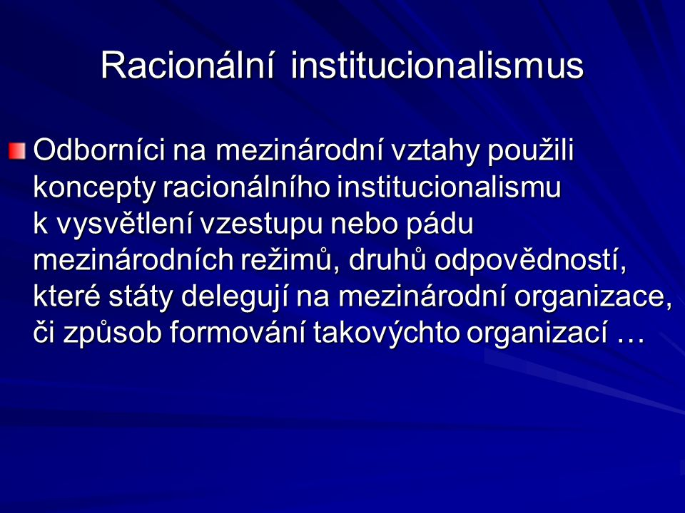 Racionální institucionalismus