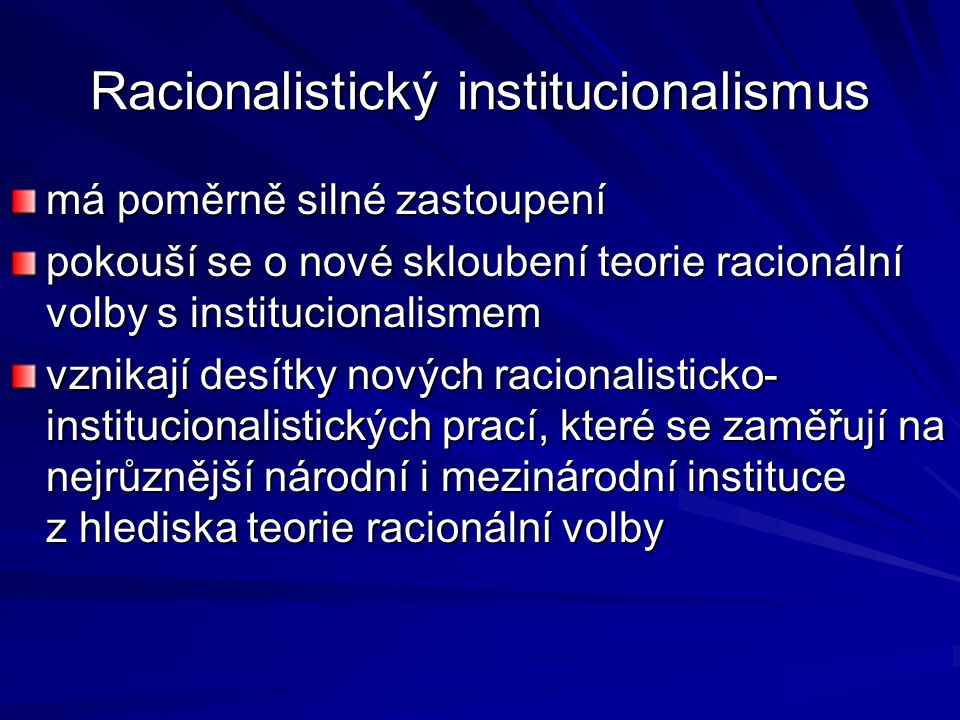 Racionalistický institucionalismus