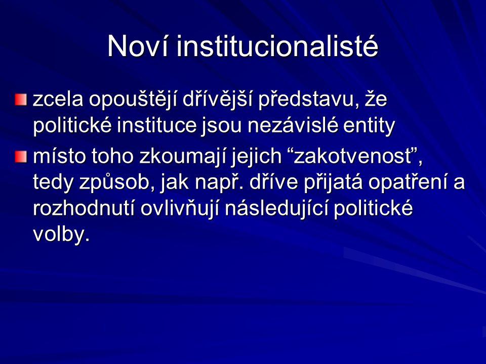 Noví institucionalisté