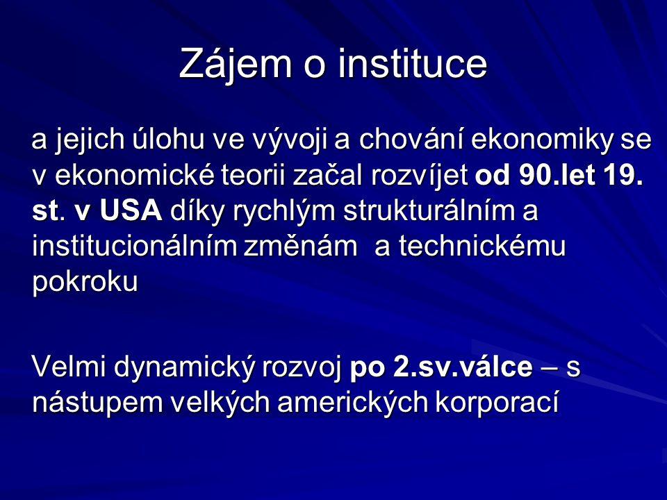 Zájem o instituce