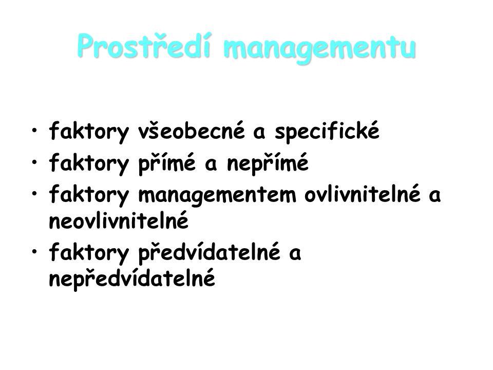 Prostředí managementu
