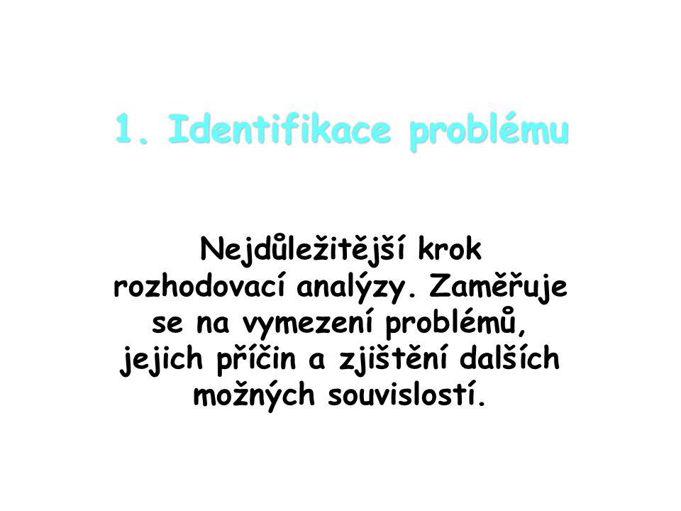 1. Identifikace problému