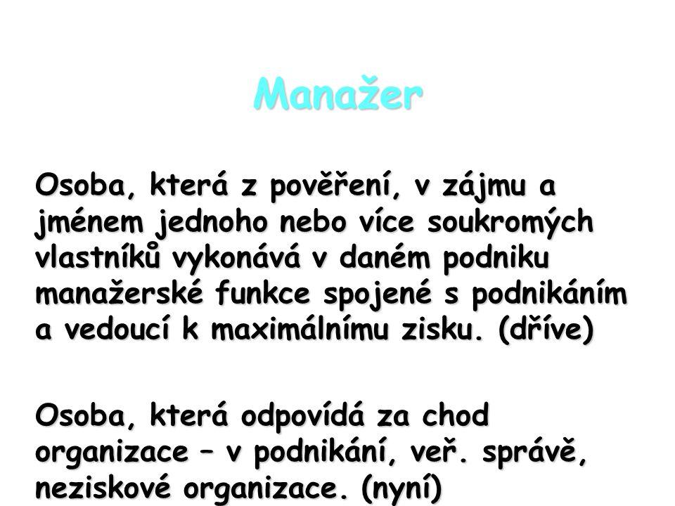 Manažer