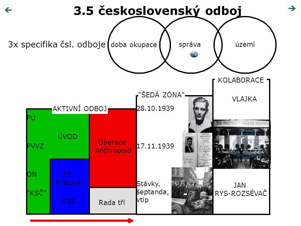 3.5 československý odboj 3x specifika čsl. odboje doba okupace správa