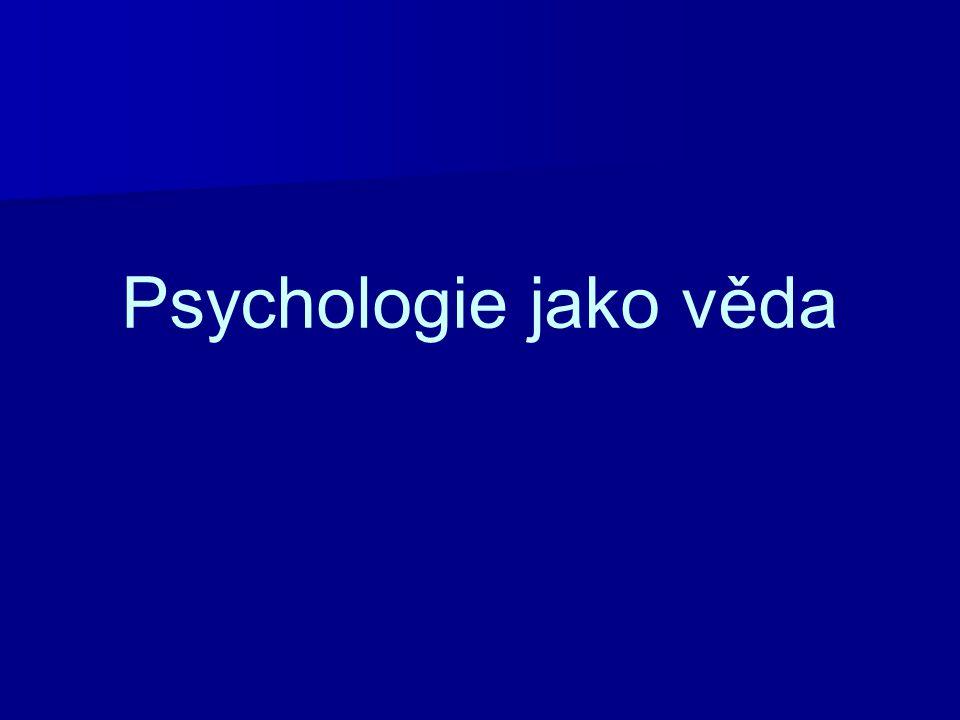 Psychologie jako věda