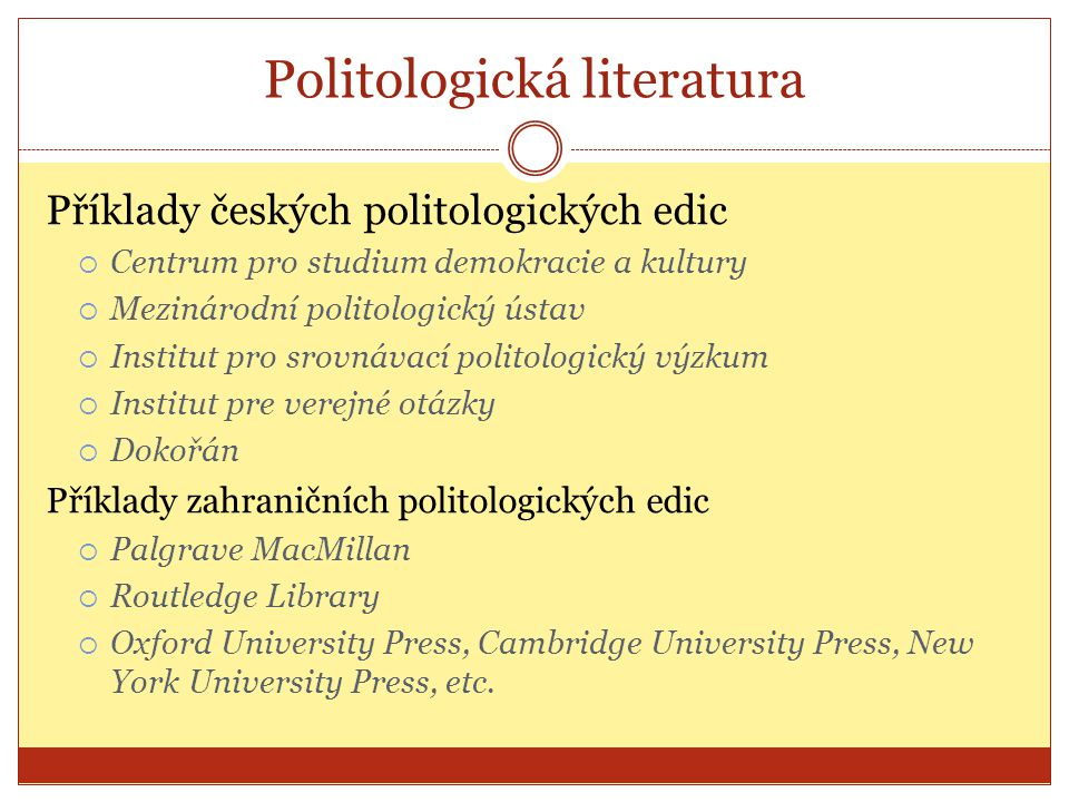 Politologická literatura