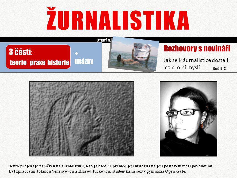 ŽURNALISTIKA Rozhovory s novináři 3 části: + ukázky