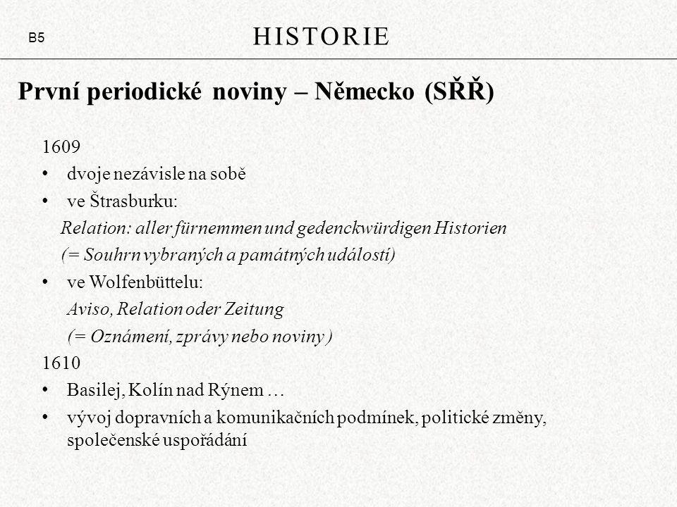 První periodické noviny – Německo (SŘŘ)