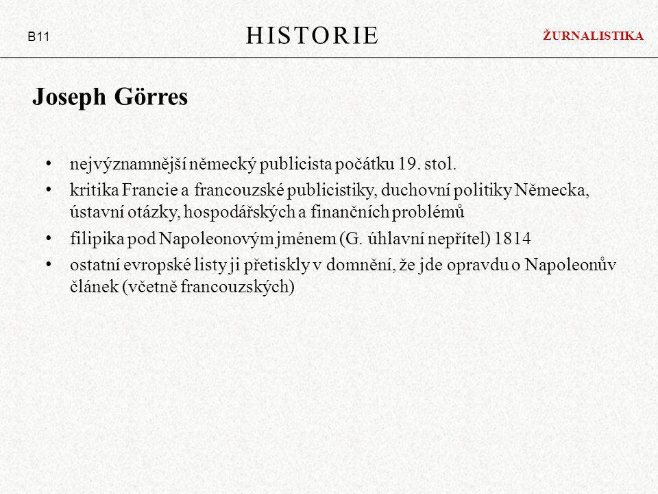 HISTORIE Joseph Görres