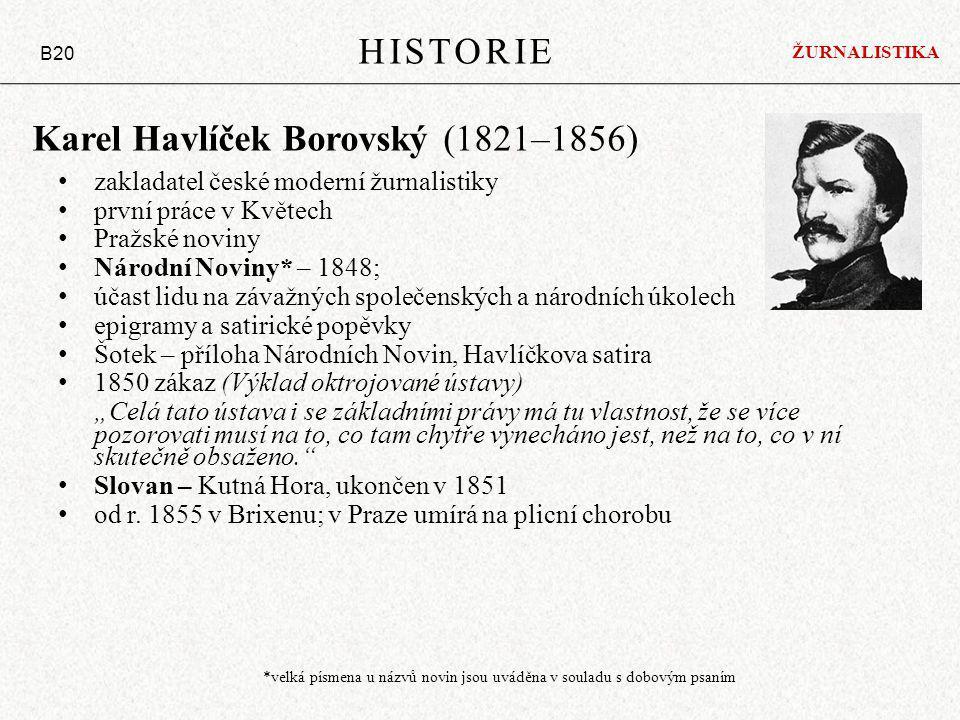 Karel Havlíček Borovský (1821–1856)