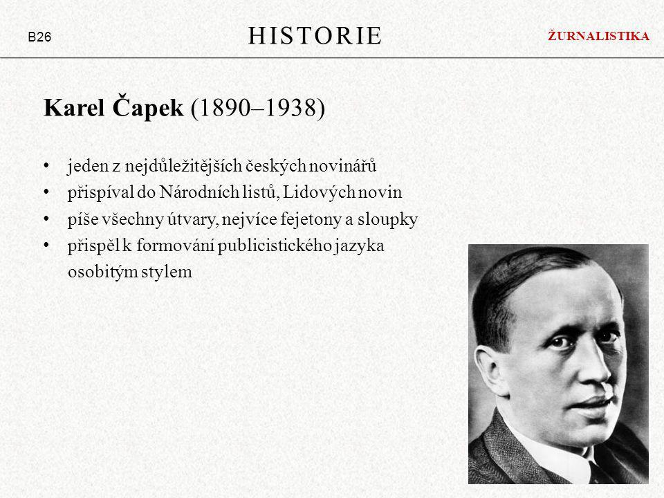 HISTORIE Karel Čapek (1890–1938)
