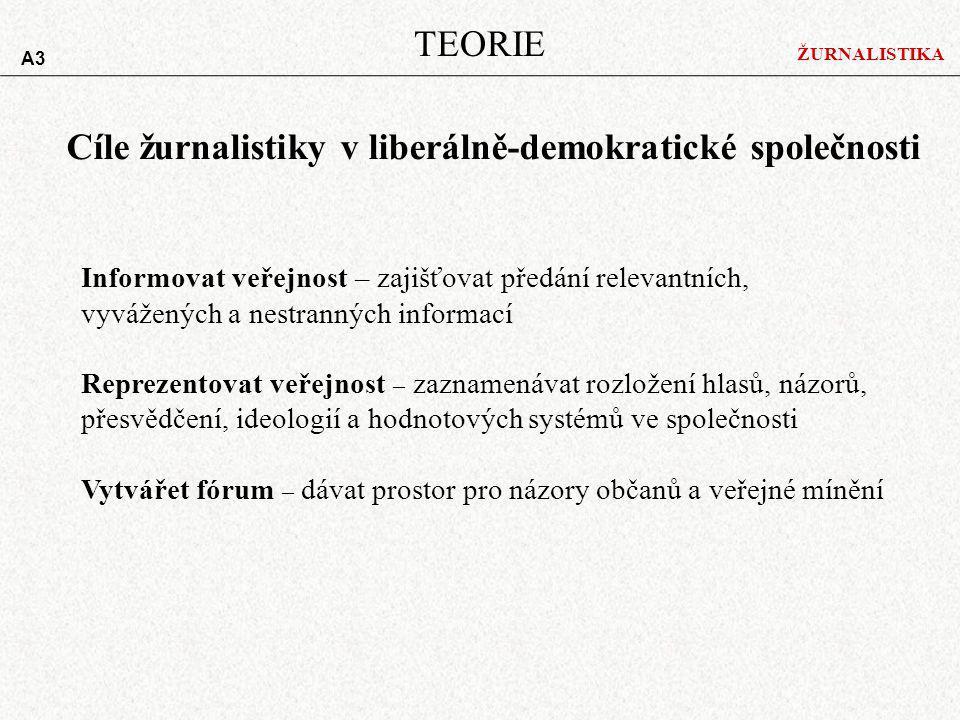 Cíle žurnalistiky v liberálně-demokratické společnosti