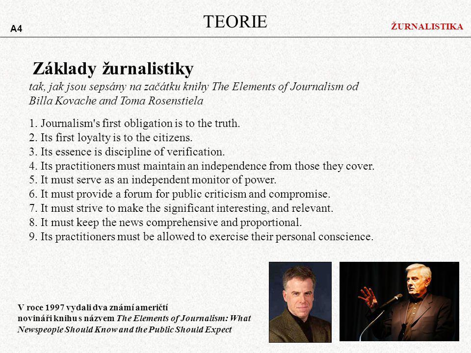 TEORIE Základy žurnalistiky