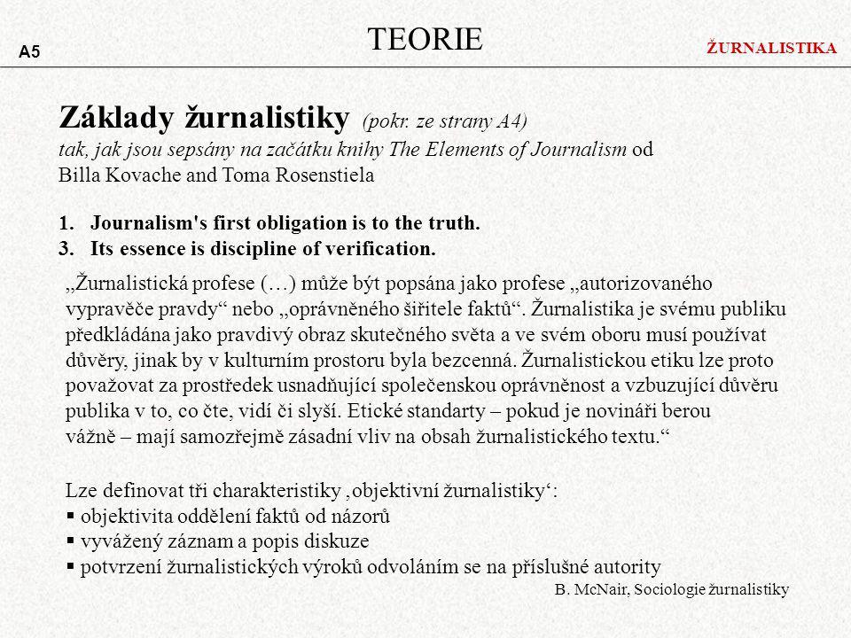 Základy žurnalistiky (pokr. ze strany A4)