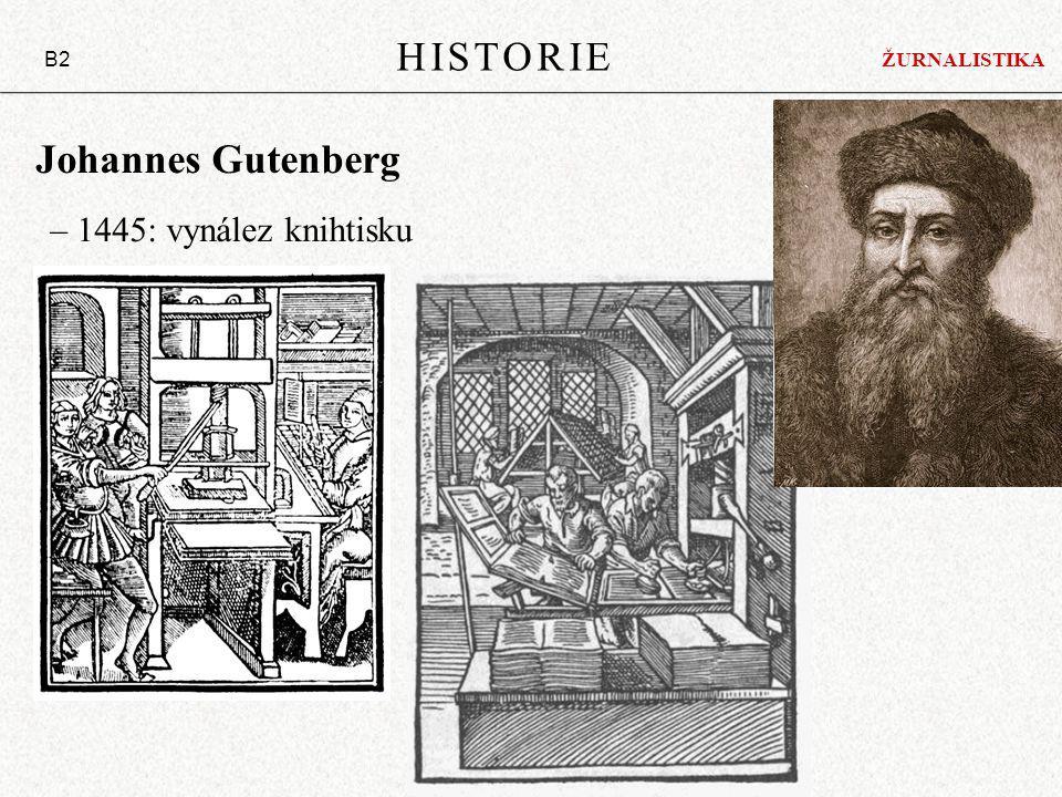 Johannes Gutenberg – 1445: vynález knihtisku