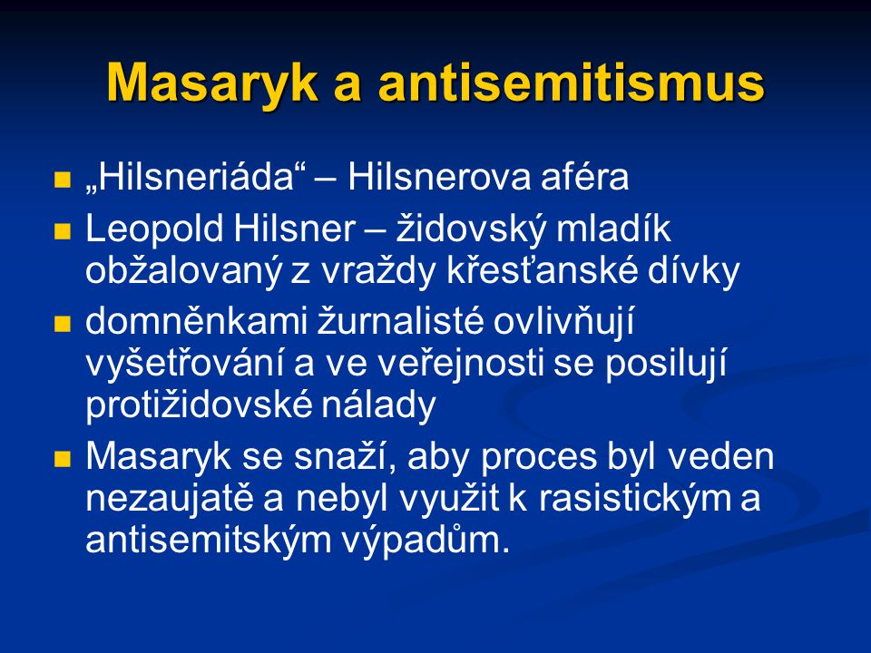 Masaryk a antisemitismus