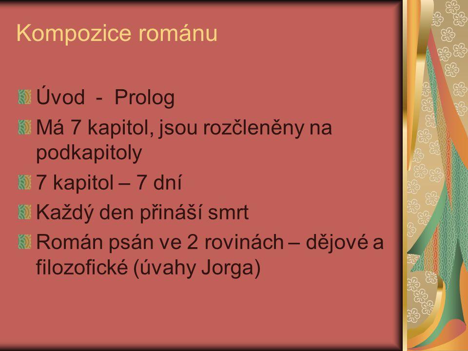 Kompozice románu Úvod - Prolog