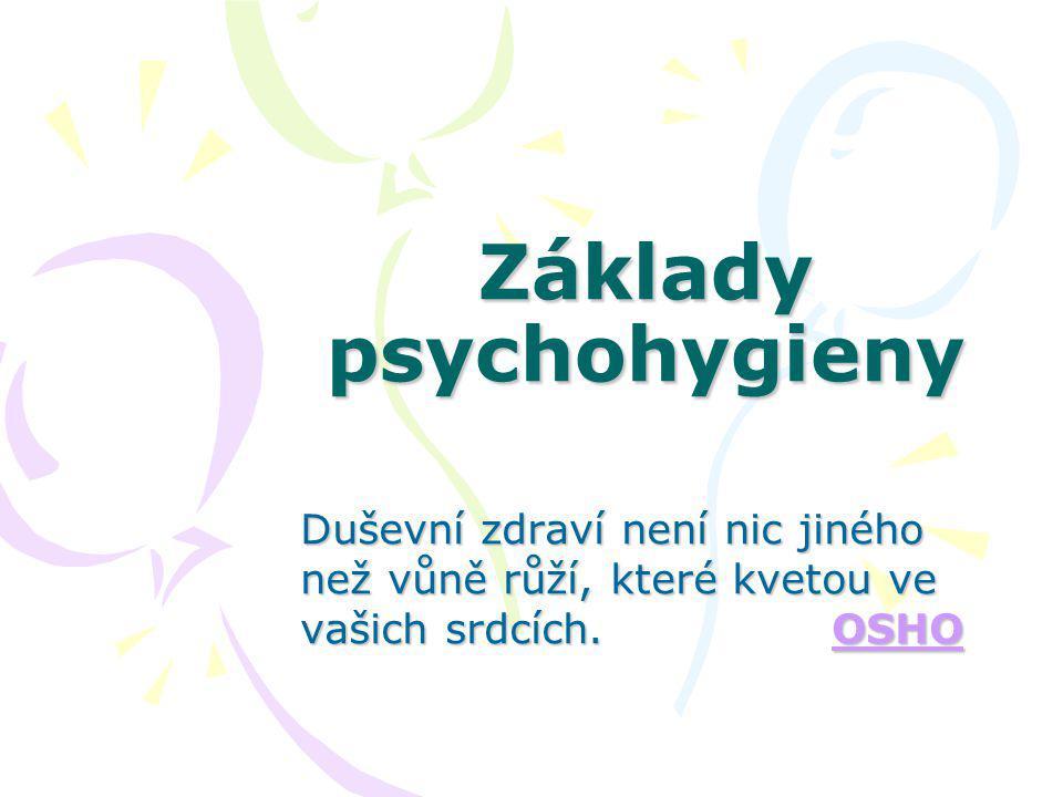 Základy psychohygieny