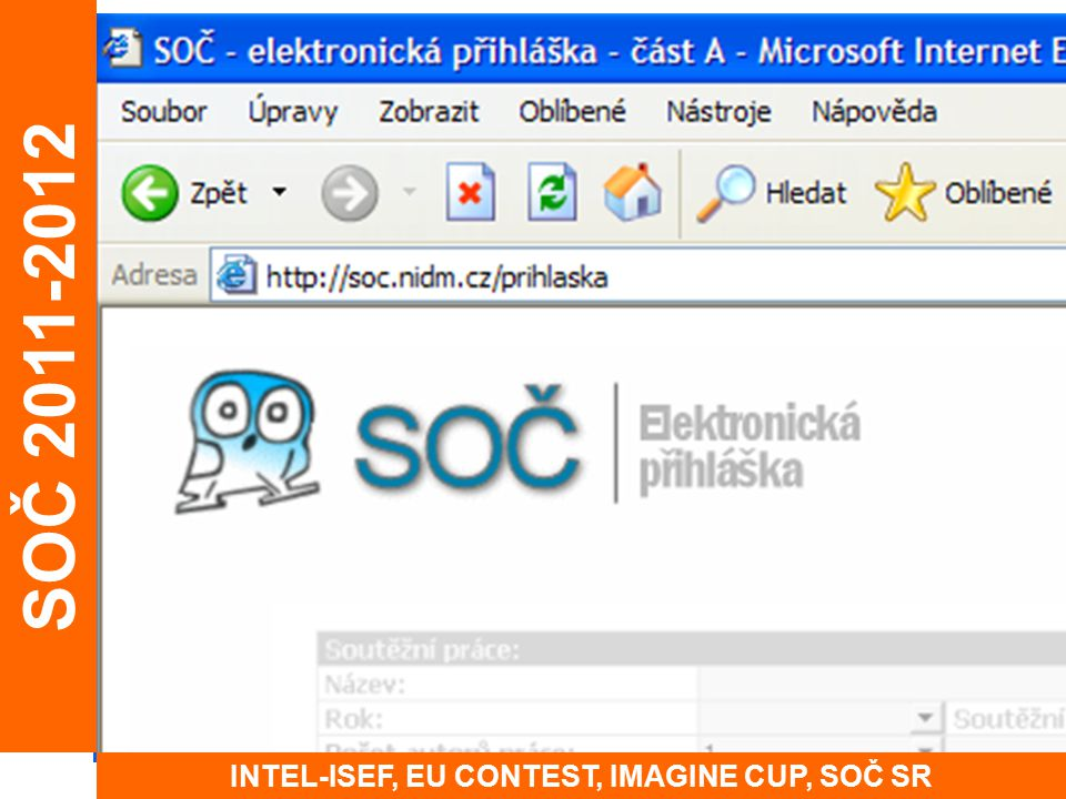 INTEL-ISEF, EU CONTEST, IMAGINE CUP, SOČ SR