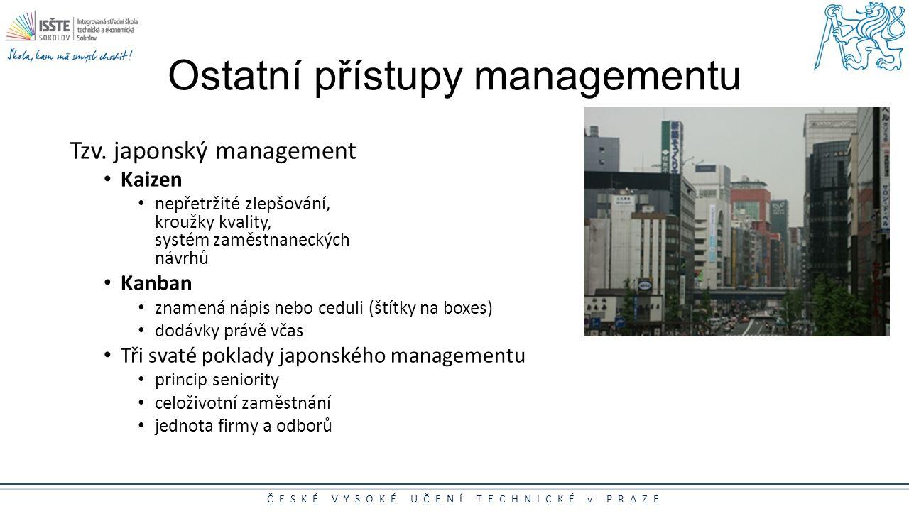 Ostatní přístupy managementu