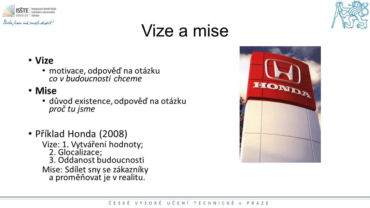 Vize a mise Vize Mise Příklad Honda (2008)