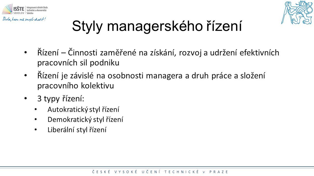 Styly managerského řízení