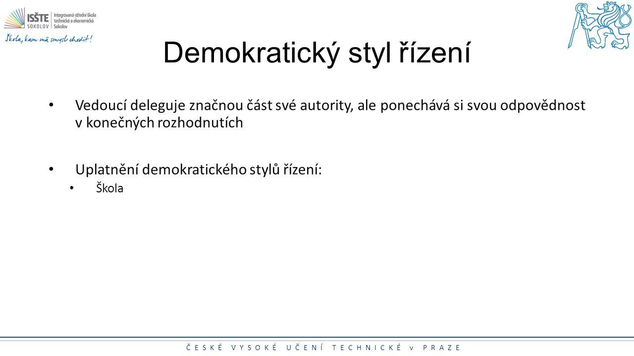 Demokratický styl řízení