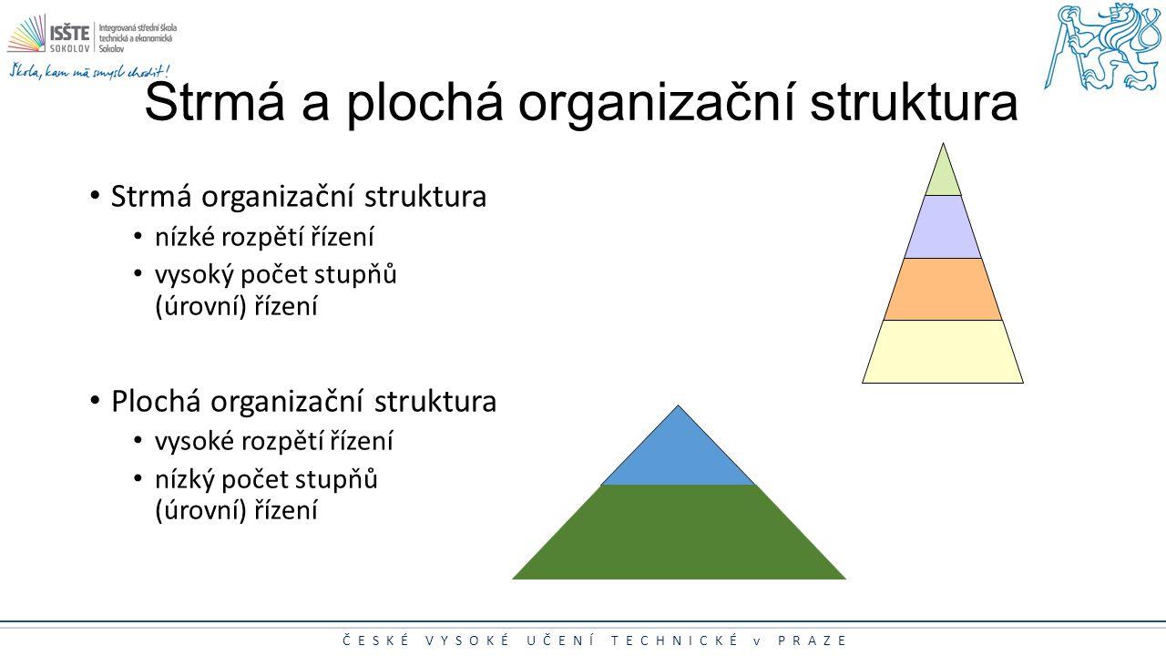 Strmá a plochá organizační struktura