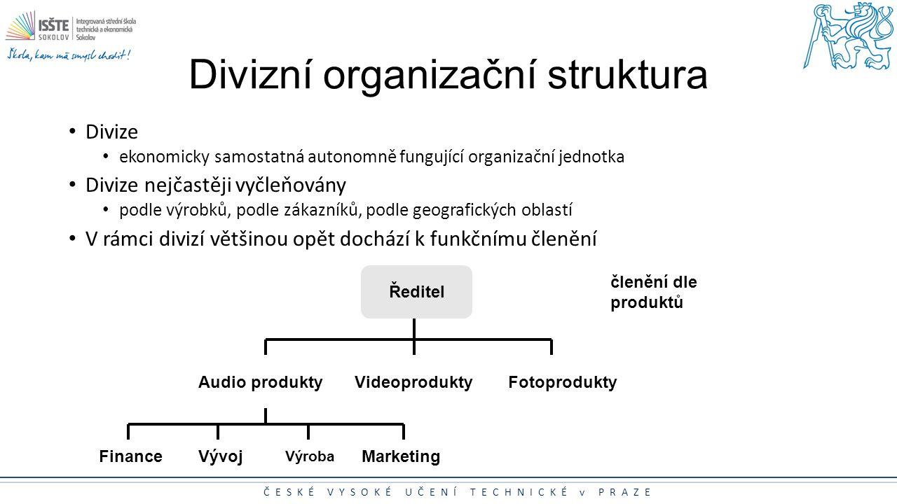 Divizní organizační struktura