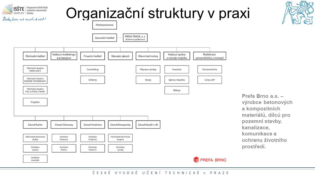 Organizační struktury v praxi