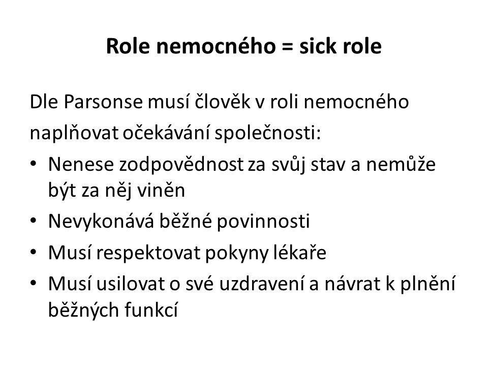 Role nemocného = sick role