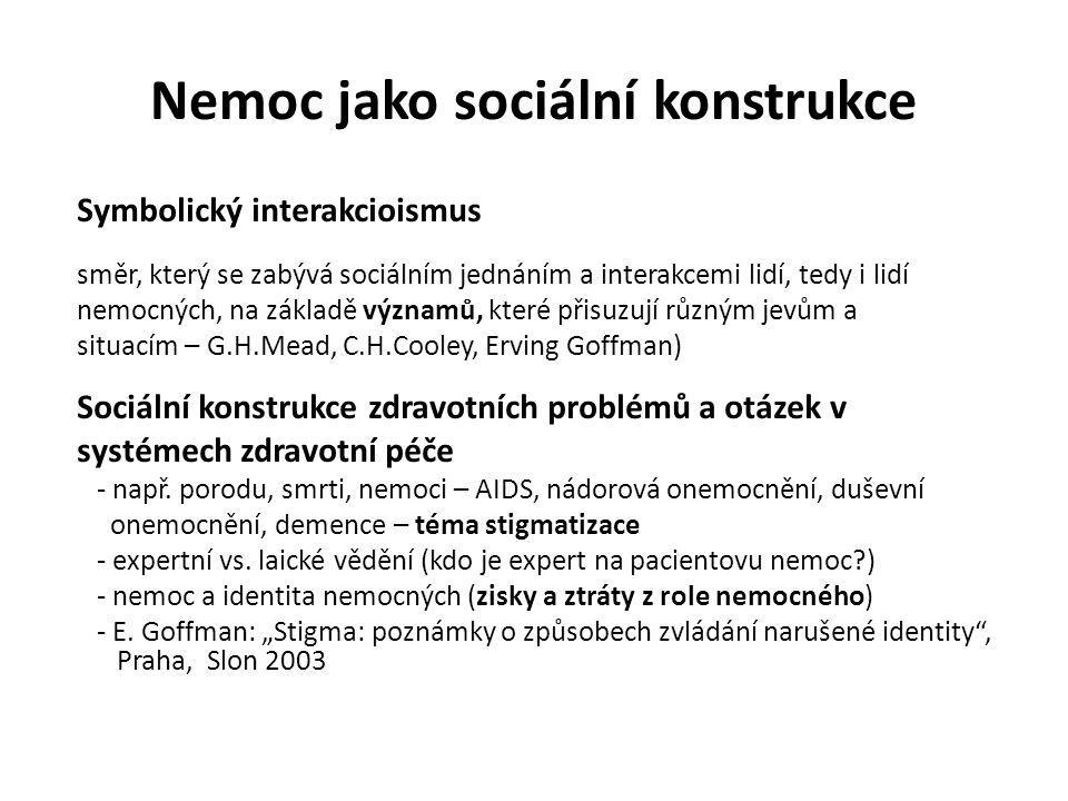 Nemoc jako sociální konstrukce