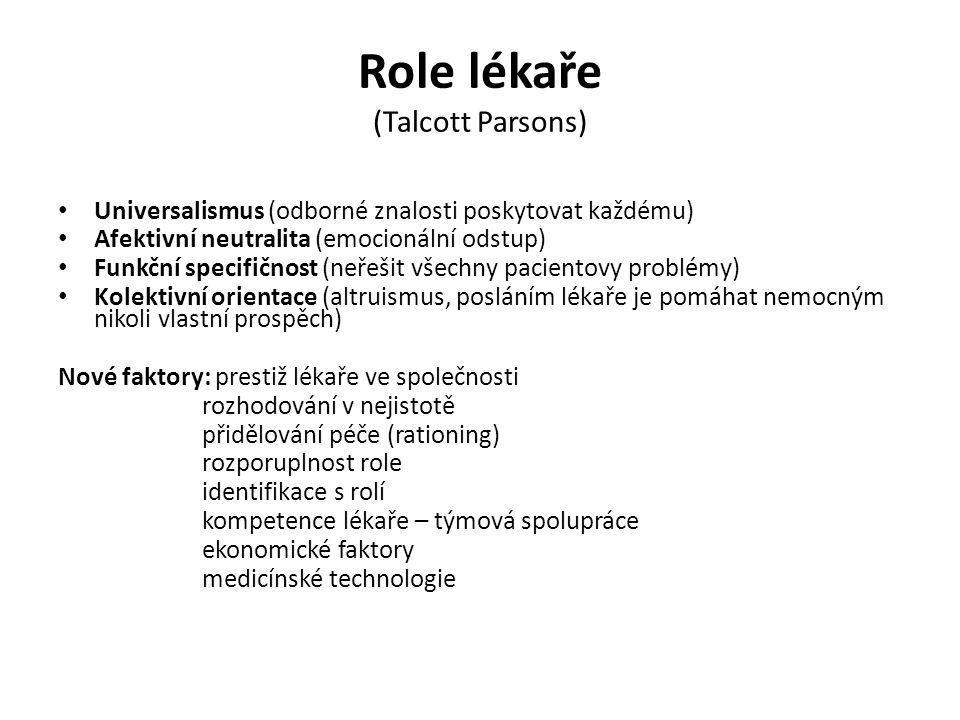 Role lékaře (Talcott Parsons)