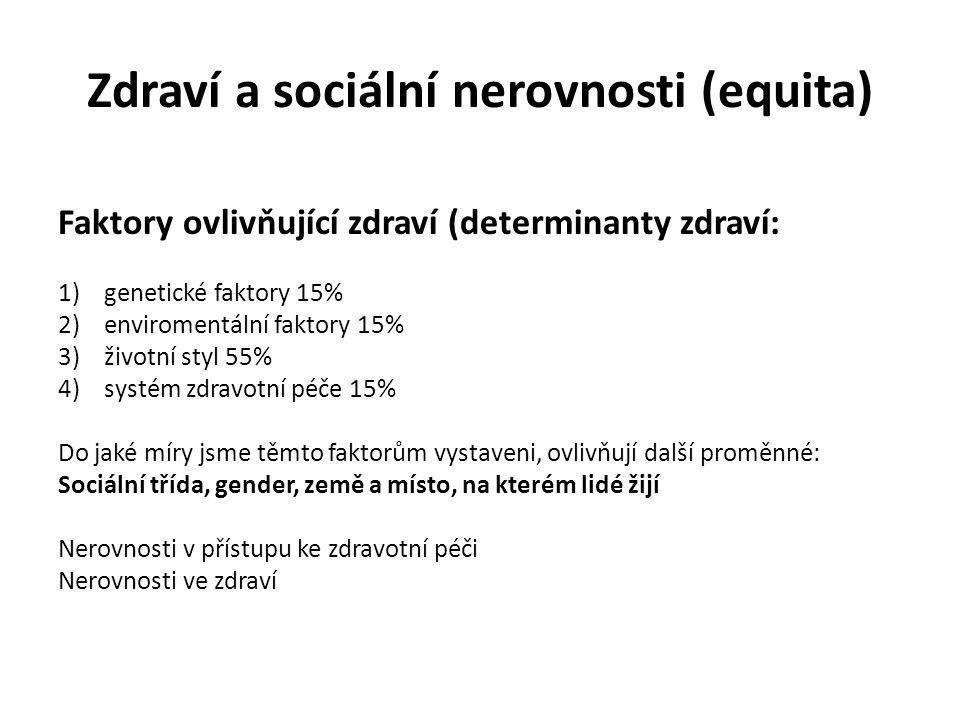 Zdraví a sociální nerovnosti (equita)