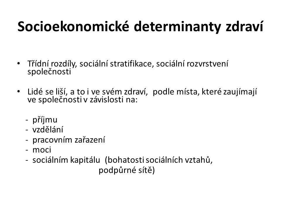 Socioekonomické determinanty zdraví