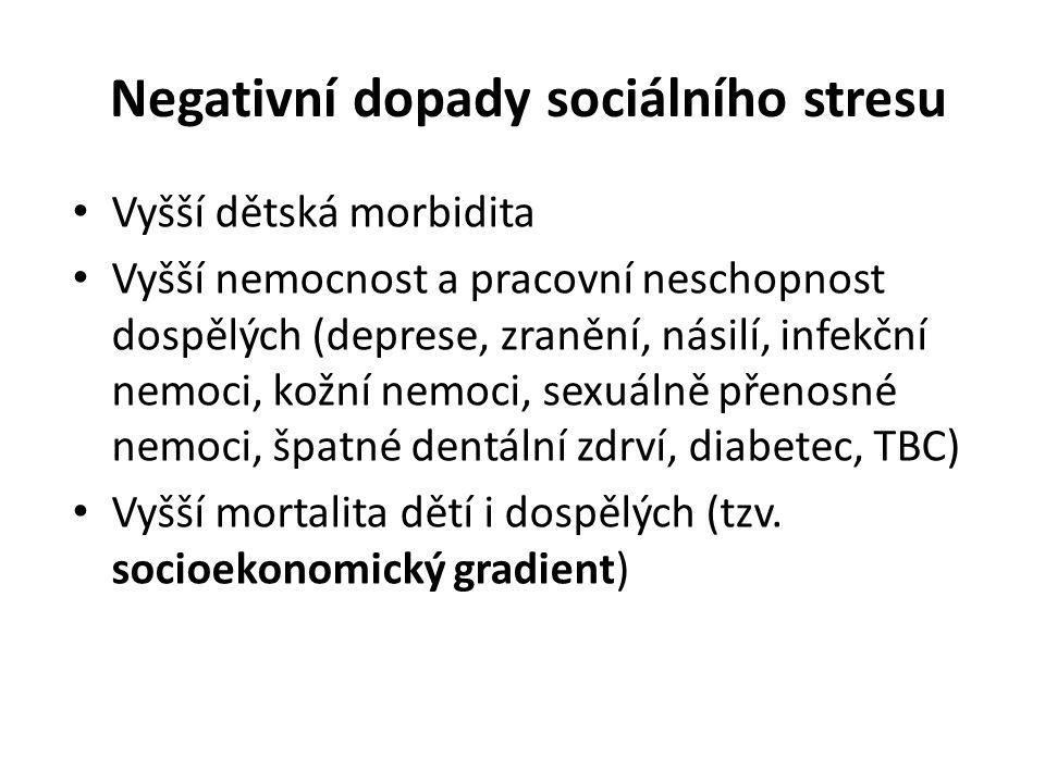 Negativní dopady sociálního stresu