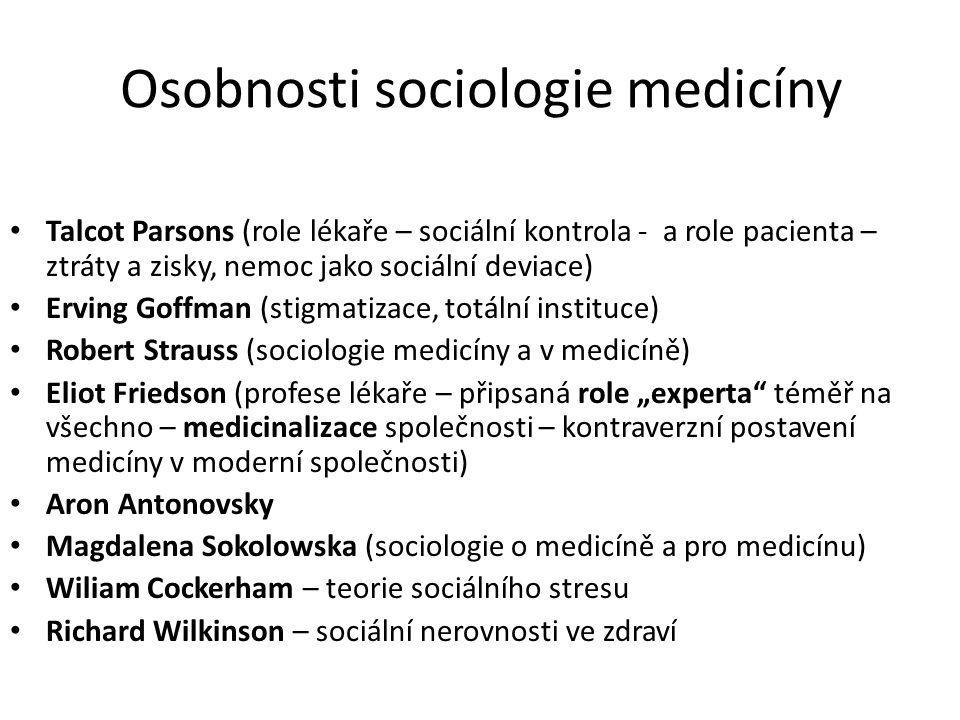 Osobnosti sociologie medicíny