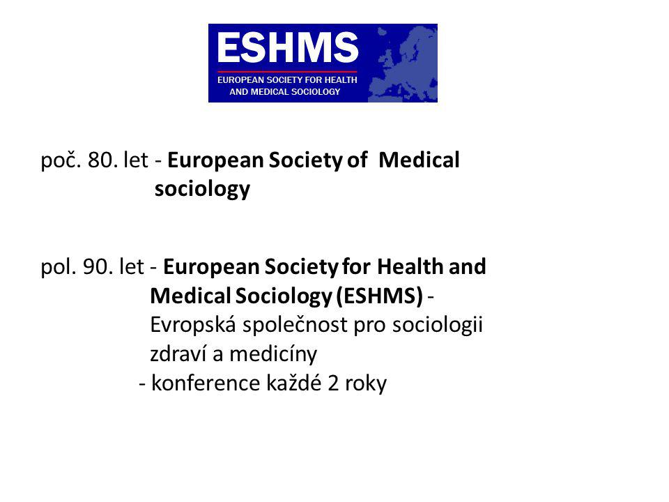 poč. 80. let - European Society of Medical